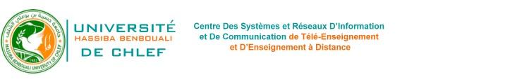 Plateforme Pédagogique - Université Hassiba Ben Bouali de Chlef - Algérie